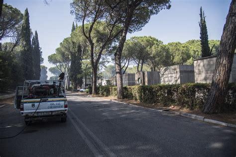 cimitero di prima porta roma roma un incendio lambisce il cimitero di prima porta 1