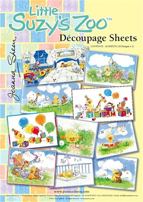 Joanna Sheen Decoupage - joanna sheen decoupage set suzy s zoo