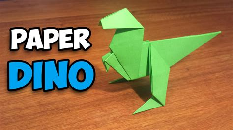 How To Make Paper Dinosaur - how to make an easy origami dinosaur