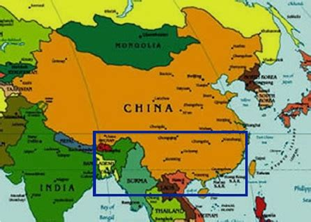 map of china and surrounding countries biotic surveys and inventories of southern china maps page