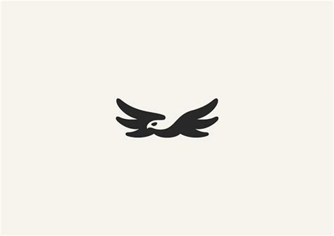 minimalist eagle tattoo 10 clever animal logos created with negative space