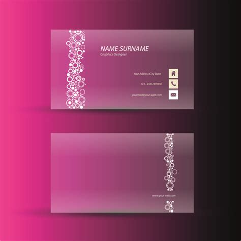 pink business card template pink business cards template design vector free vector in