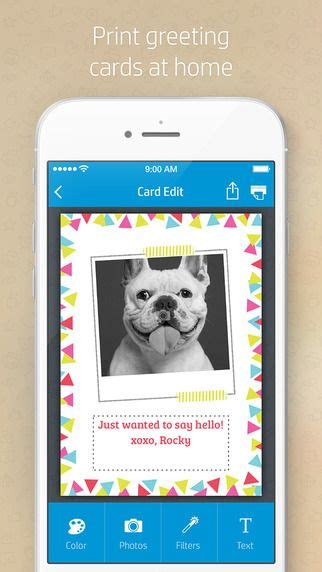 printable birthday cards hp print your own greeting cards at home with hp cards app