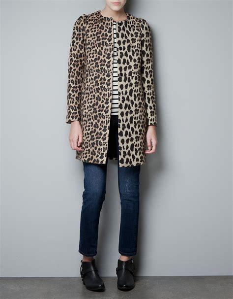 Cape Blazer Flower Zara Mango Wegdes Recommend Bahan Kaku zara leopard print coat in lyst