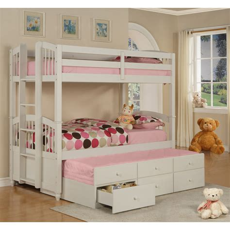 White Bunk Bed With Storage On Trundle Bunk Beds Bunk Bed And Doors