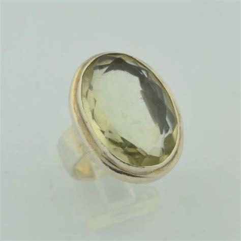 Ring Silver Oke 15 carat citrine sterling silver ring okey s secret room