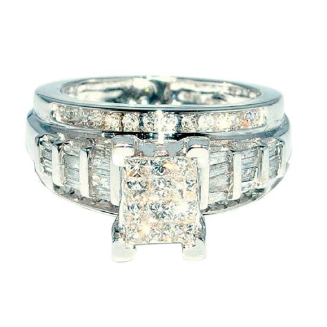 princess cut wedding ring 3 in 1 engagement