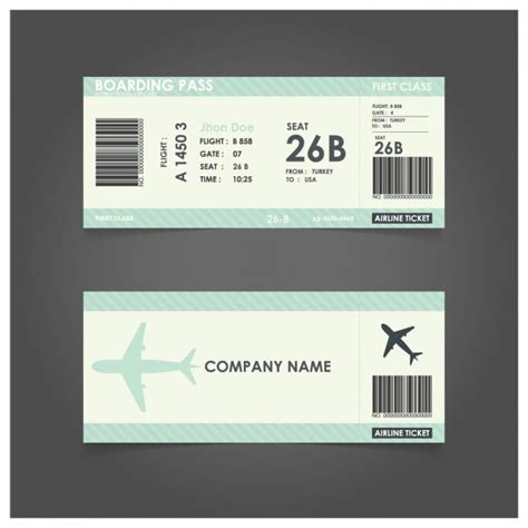 boarding pass template free green boarding pass template vector free