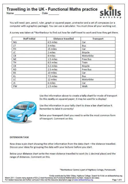 functional skills maths worksheets functional maths