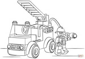 pages lego coloring pages firetruck coloring page