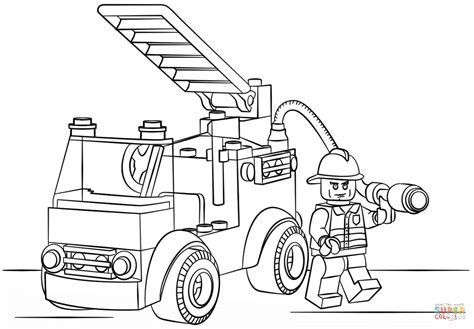 lego fire truck coloring page free printable coloring pages