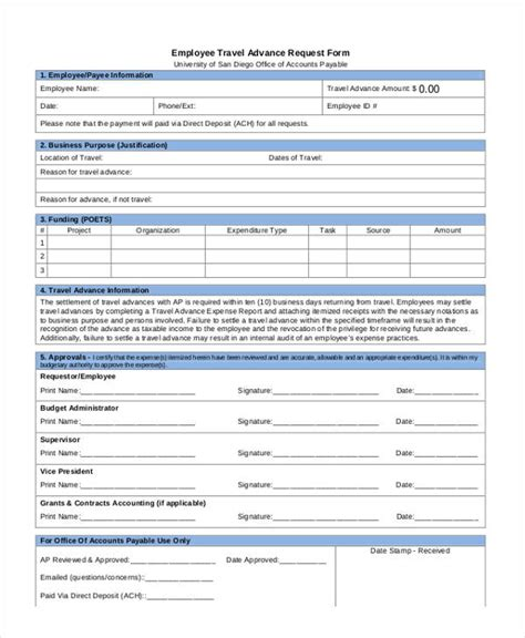 travel request form travel request form exle
