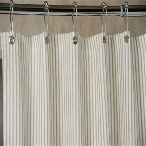 brown and white striped curtains brown ticking stripe shower curtain