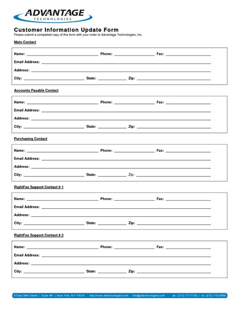 business information form template best photos of business update template strategic