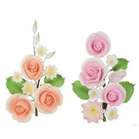 fiori con pasta di zucchero tecnica ramo di fiori di zucchero elegante con 3