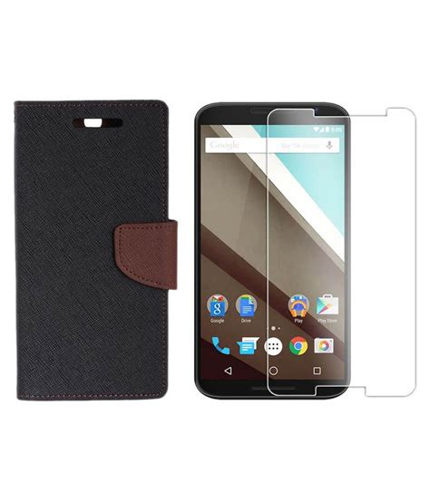 Sale Tempered Glass Aiueo Lenovo A6000 relax and shop flip cover with tempered glass for lenovo a6000 black brown buy relax and