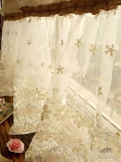 french country shower curtain 72 quot shabby rustic chic burlap shower curtain lace ruffles