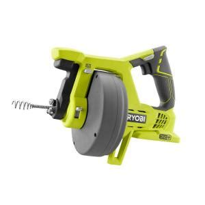 drain snake home depot ryobi 18 volt one drain auger tool only p4001 the