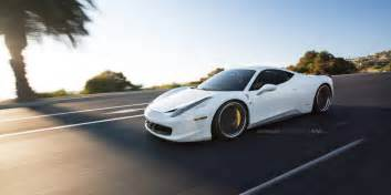 white 458 italia on matte black adv 1 wheels