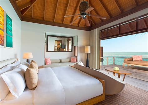 Resort Home Design Interior by Water Bungalows In Maldives Deluxe Over Water Bungalow