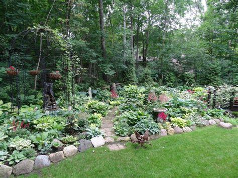 backyard bay hometalk an early july backyard shade garden walk in