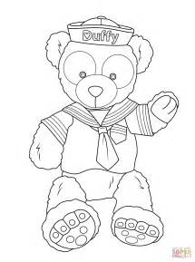 duffy disney bear coloring free printable coloring pages