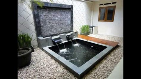 desain air mancur depan rumah ide desain air mancur kolam taman minimalis rumah