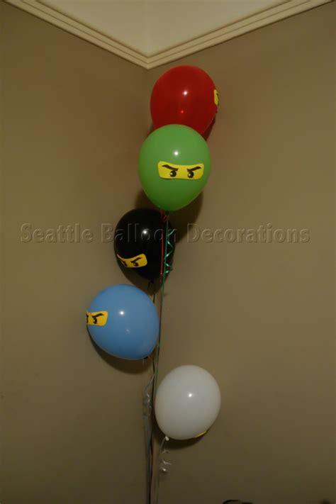 Home Balloon Decoration Ninjago Theme Birthday Party Seattle Balloon Decorations