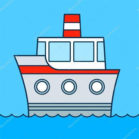 dessin d un bateau sur l eau vecteur couleur mignon dessin anim 233 bateau croisi 232 re sur l