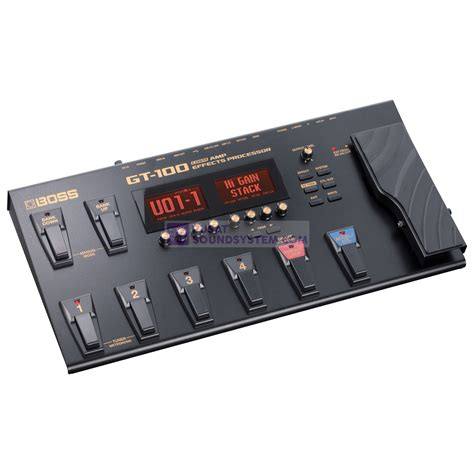 jual gt 100 guitar effects processor with accel pedal