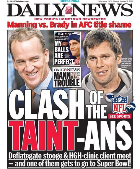 Cover Call In Nyc by Look Ny Tabloid Cover Calls Tom Brady And Peyton Manning
