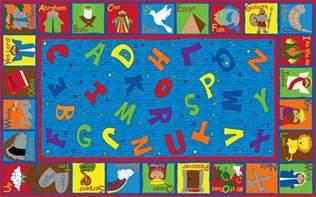 bible sunday school rug with abcs kidcarpet