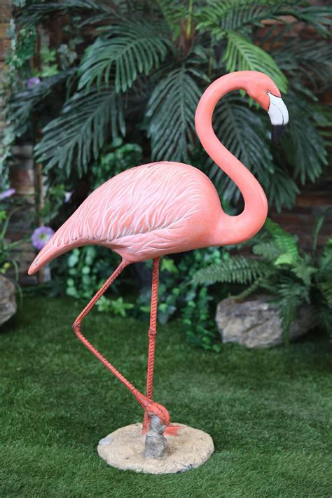 Large Garden Decor Large Flamingo Statue Walking Outdoor Living Outdoor Decor Lawn Ornaments Statues