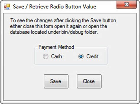 tutorial html radio button save and retrieve radio button value free source code