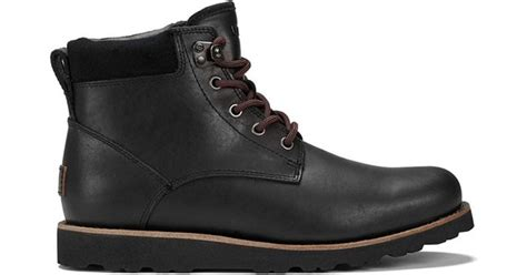 ugg s seton tl waterproof leather lace up boots in
