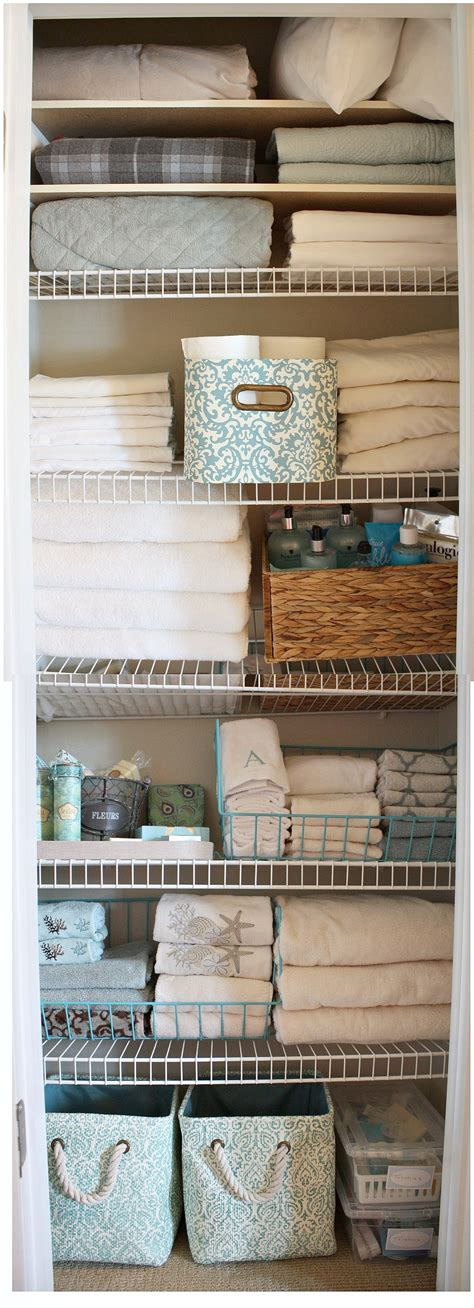 The Closet Exchange by 20 Beautifully Organized Linen Closets The Happy Housie