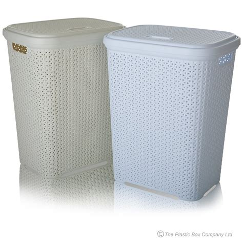 Buy Tall Large Plastic Rattan Style Laundry Basket With Laundry Plastic
