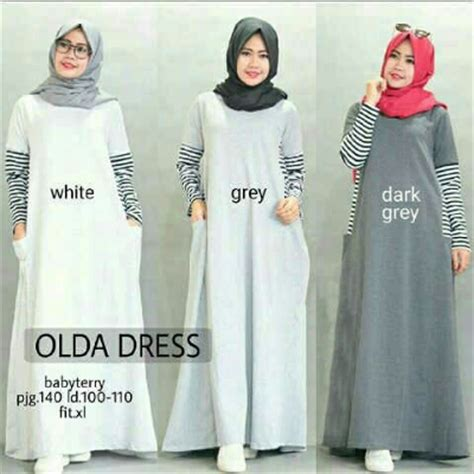 Dress Khimar Pasmina Modis Mouslim baju muslim remaja olda dress a178 model gamis modis