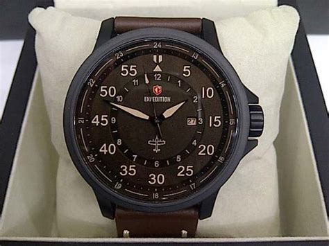 Aigner Kulit Brown Black jam tangan original expedition e6680 black brown