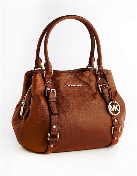 Michael Kors Satchel Bag michael michael kors bedford east west leather satchel bag in brown luggage lyst