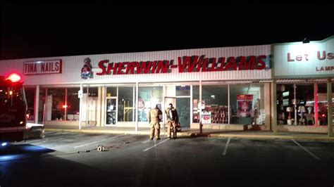 sherwin williams paint store hamilton mill road buford ga city firefighters save hixson business early sunday