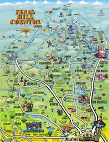 map of the hill country visitor attractions in by county