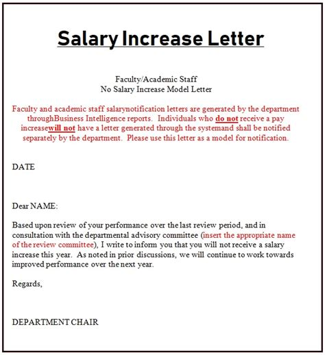 salary increase letter template payslip templates
