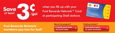 Activate Shell Gift Card - 3 cent reward for frn members fuel rewards network