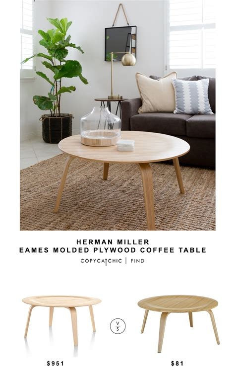 eames plywood coffee table herman miller eames molded plywood coffee table copycatchic