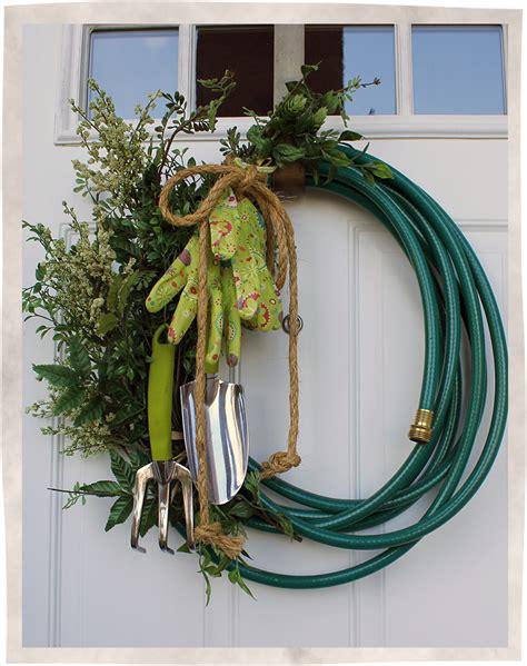 garden hose wreath bumbleberry cottage designs
