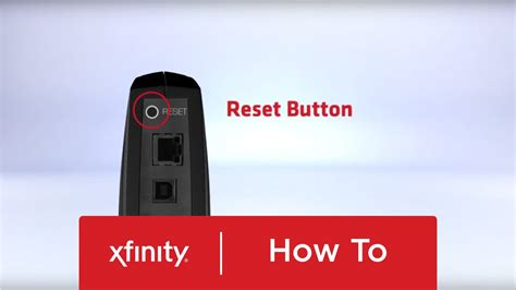 xfinity online light not on how to reset your xfinity cable and voice modem youtube