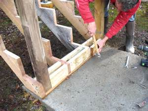 Deck Stair Handrail Height Code Bottom Stair Post And Stringer Deck Connections