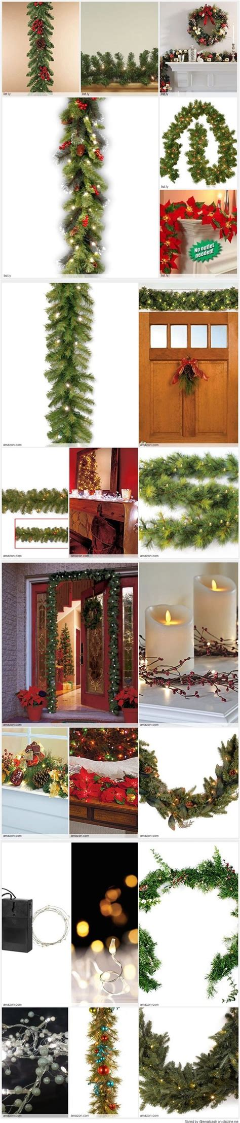 17 best ideas about christmas garland with lights on