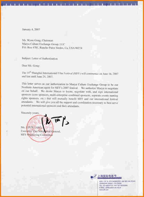 authorization letter sle as representative authorize letter authorization letter pdf
